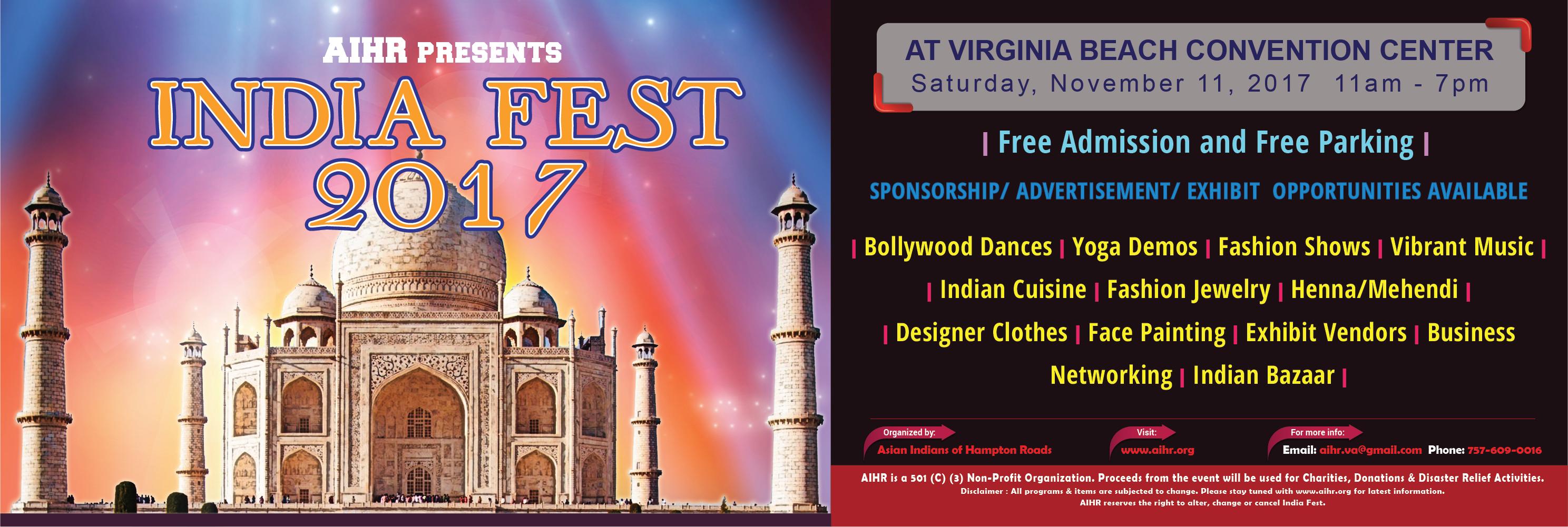 India Fest Virginia Beach Nov